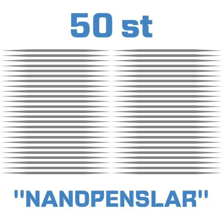 """50 st """"nanopenslar"""" tandpetare för riktigt små stenskott och repor"""
