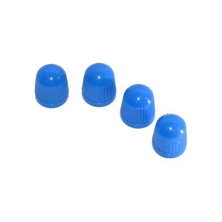 4 st Blå Ventilhattar i Plast (för bilventiler)