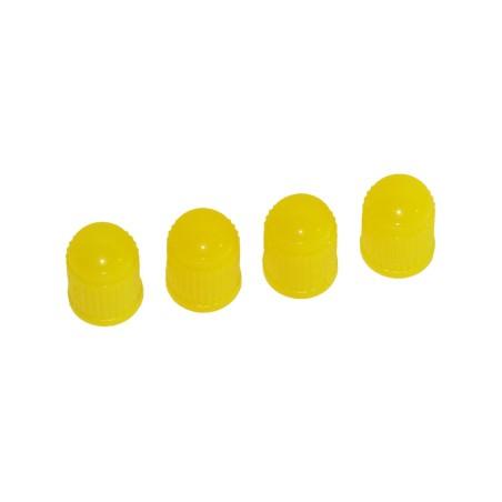 4 st Gula Ventilhattar i Plast (för bilventiler)